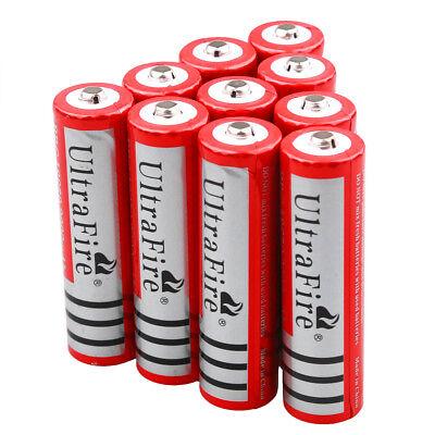 10x Ultrafire 18650 3.7V 3000mAh Rechargeable Li-ion Battery For LED Light Torch 12