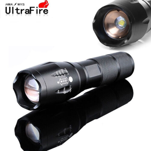 2SETS Tactical 50000LM T6 LED Flashlight Torch & 9900mAh 18650 Battery + Charger 3