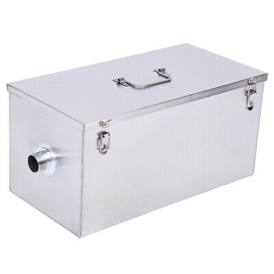 25LB Commercial 13GPM Grease Trap Heavy Duty Stainless Interceptor For Catering 2