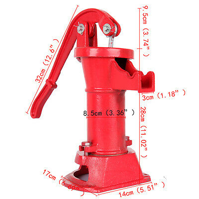 Functional Hand Water Well Pump Pitcher Cast Iron Press Suction Outdoor Yard NEW 6