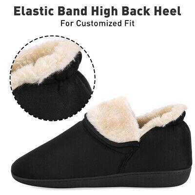 Men's Plush Warm Ankle Bootie Slippers Fuzzy Memory Foam Winter House Shoes 4