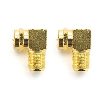 deleyCON 2x SAT Adapter 90° SAT Kabel Winkel Adapter SAT Koaxial Winkel Stecker