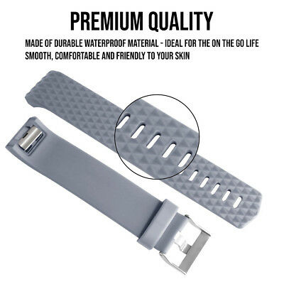 For Fitbit Charge 2 Band Replacement Straps Silicone Small Large Black Bands 4