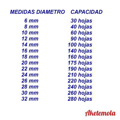 Canutillo Espiral Metalica Encuadernacion Paso Normal 5:1 3