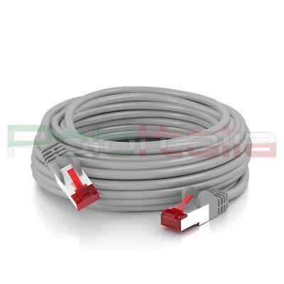 Cavo da 0 a 50m di RETE Ethernet Lan Schermato Cat 6 S/FTP RJ45 gigabit prolunga