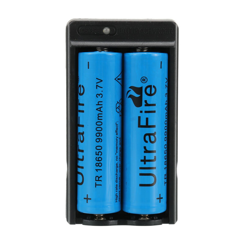 9900mAh 18650 Rechargeable Battery Li-ion Lithium 3.7V With Charger Cell UK 11