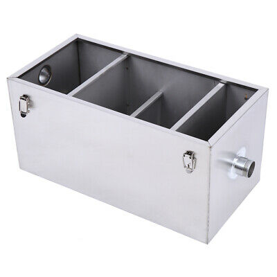 25LB Commercial 13GPM Grease Trap Heavy Duty Stainless Interceptor For Catering 7