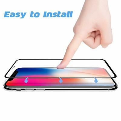 For iPhone X XR XS Max - FULL COVER 9D Tempered Glass Screen Protector [2-Pack] 6