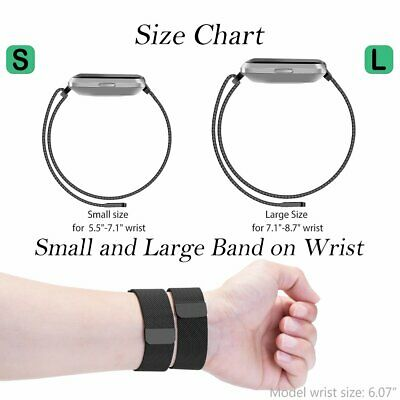 For Fitbit Versa 2/Versa/Versa Lite Milanese Replacement Strap Bands Bracelet UK 6