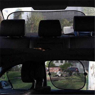 5Pcs Side Rear Window Screen Mesh Sunshade Sun Shade For Car UV Protection ON 2
