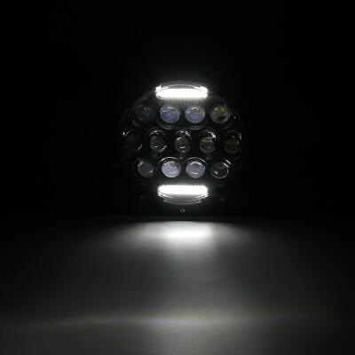 "Pair 7"" INCH LED Headlights Hi/Lo Beam DRL For Jeep Wrangler CJ JK LJ TJ Rubicon 12"
