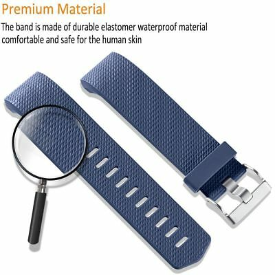 10 Pack Replacement Wristband For Fitbit Charge 2 Band Silicone Fitness Sport 11