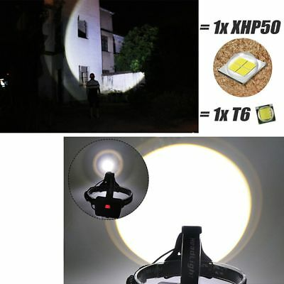 990000LM XHP70 LED Headlamp Zoom USB Rechargeable 18650 Headlight Super Bright 5