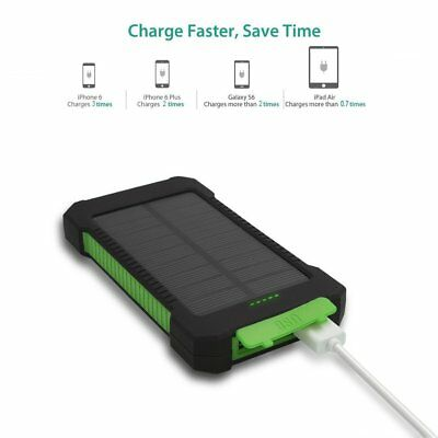50000mah Solar Power Bank 2 LED 2 USB Waterproof Battery Charger for Cell Phone 9