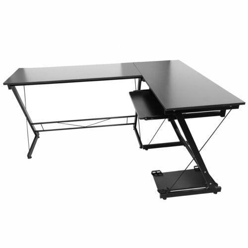 l form ecke holz computer schreibtisch laptop workstation. Black Bedroom Furniture Sets. Home Design Ideas