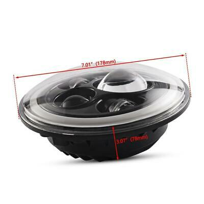 "Pair 7"" INCH 200W LED Headlights Halo Angle Eye For Jeep Wrangler CJ JK LJ 97-18 4"