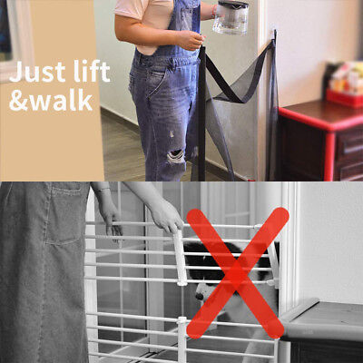 Magic Dog Gate Pet Safety Guard Portable Folding Safe Net for Dog Baby-Enclosure 2