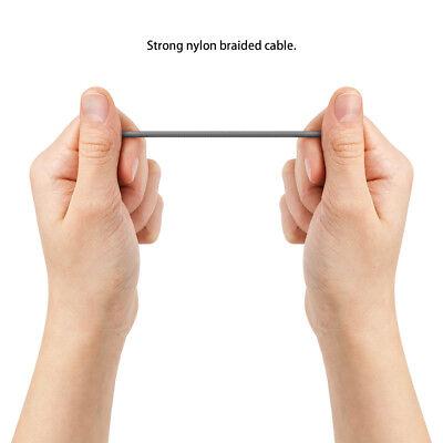 deleyCON 2m Micro USB Kabel Nylon Ladekabel Datenkabel Sync Kabel Handy Tablet