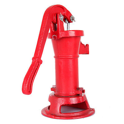 Functional Hand Water Well Pump Pitcher Cast Iron Press Suction Outdoor Yard NEW 3