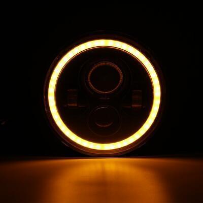 "Pair 7"" INCH 200W LED Headlights Halo Angle Eye For Jeep Wrangler CJ JK LJ 97-18 10"