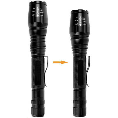 900000LM T6 LED Rechargeable High Power Torch Flashlight Lamps Light & Charger # 10