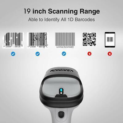 Inateck Bluetooth Barcode Scanner Wireless Laser USB Scan Gun Label Reader 8
