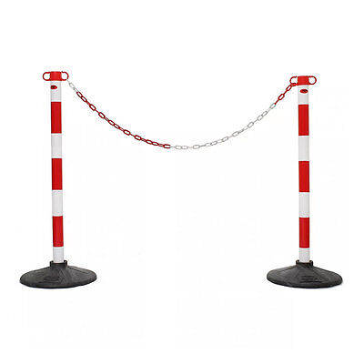 15m x 6mm Plastic Barrier Chain Link Safety Decorative Garden Fence Blue /& White
