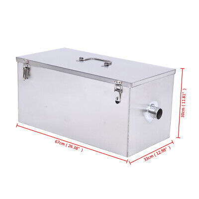 25LB Commercial 13GPM Grease Trap Heavy Duty Stainless Interceptor For Catering 4