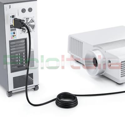Cavo da 1 a 20m DVI-D dual link 24+1   HDMI maschio audio video cable adattatore 7