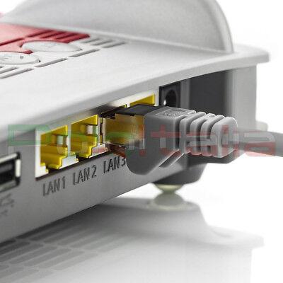 Cavo da 0 a 50m di RETE Ethernet Lan Schermato Cat 6 S/FTP RJ45 gigabit prolunga 5