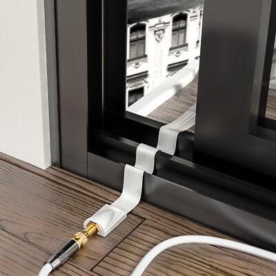 deleyCON SAT Fensterdurchführung Flachkabel SAT Kabel HDTV Fenster Durchführung