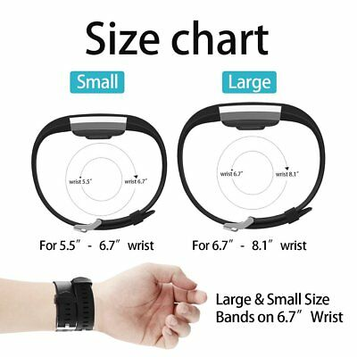 Replacement Watch Strap Band Metal Buckle Wristband Silicone For FitBit Charge 2 2