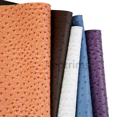Ostrich Skin Faux PVC PU Leatherette Soft Fabric,Craft,Light Upholstery,Neotrims 5
