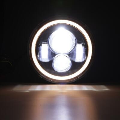 "Pair 7"" INCH 200W LED Headlights Halo Angle Eye For Jeep Wrangler CJ JK LJ 97-18 7"