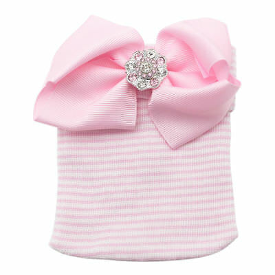 Bonnet souple rayé coloré pour bébé fille avec bonnet nouveau-né 4