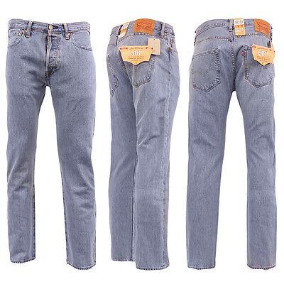Levi 501 Jeans Mens Original Levi's Strauss Denim Straight Fit New All Sizes 4