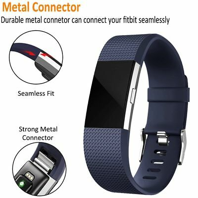 3 Pack Replacement Wristband For Fitbit Charge 2 Band Silicone Fitness Large L 7