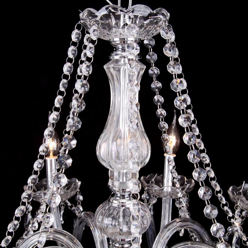 6 flammiger esstisch decken h nge leuchte lampe wohnzimmer for Kristall lampe