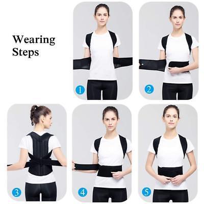 Posture Corrector Brace Women Men Full Back Support Clavicle Shoulder Belt Body 6