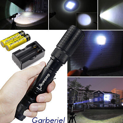 Tactical Police 990000Lumen T6 5Modes LED Flashlight Aluminum Torch Zoomable USA 3
