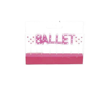 Bellissimo Ballet Rosa A Pois Da Festa Candele Di Compleanno CS-06 2