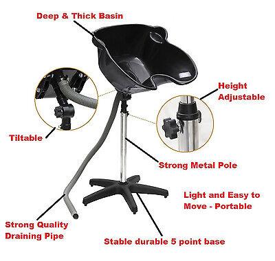 Portable Adjustable Salon Hairdressing MobileShampoo Sink Backwash Hair Basin