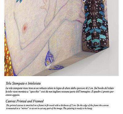 💕 Quadro Klimt Maternità Stampa Fine Art di Pregio su Tela Vernice Pennellate 5