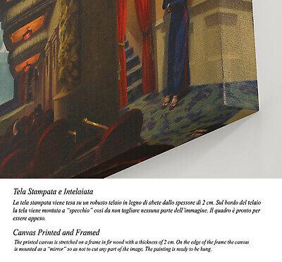 🎥 Quadro Edward Hopper New York Movie Stampa su Tela Canvas Vernice Pennellate 3