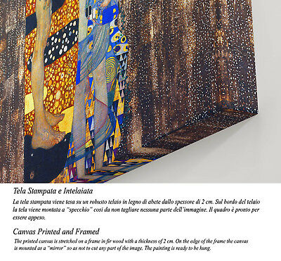 Le Tre età della donna Stampa su Tela Vernice Effetto Pennellate Klimt