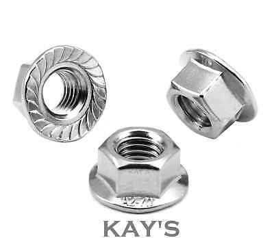 Flanged Nuts To Fit Metric Bolts & Screws A2 Stainless Steel M4,5,6,8,10,12 2