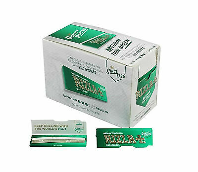600 Rizla Green Rolling Papers Made In Belgium Original 12 Booklets 5