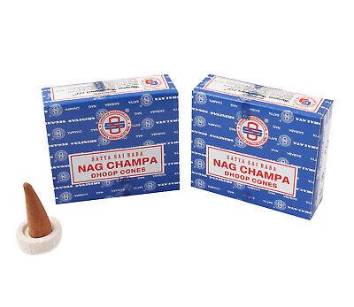 Genuine Original Satya Incense Sai Baba Nag Champa Dhoop Cones - Fresh Stock 4