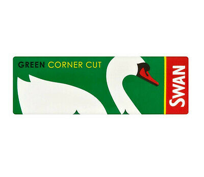 Full Box 100 Booklets of Swan Green Corner Cut Cigarette Rolling Papers 2