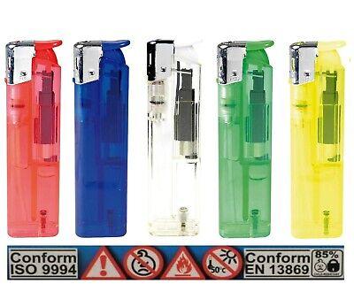 FZ-133 50x Elektronik Feuerzeuge Pack im Verkaufsdisplay für Rauchen Grill Kiosk 2